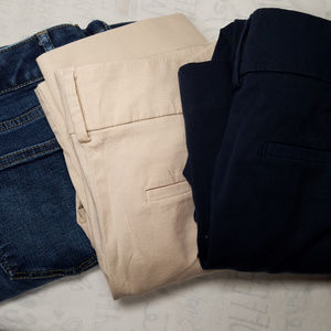 Women's Career Pants Jeans Bundle Lot 3 Pieces 4P